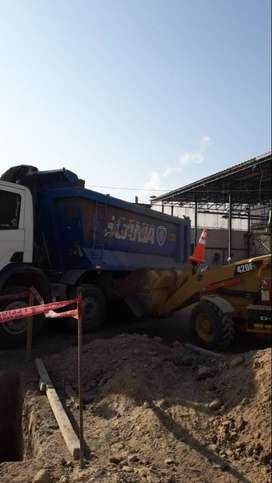 Scania p420 8x4  tolva 20m