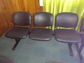 Vendo sillas para sala espera