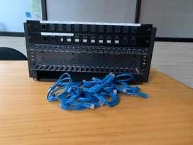 Rack Metalico 12 puertos para networking