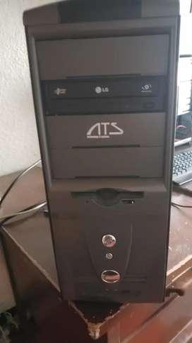 Vendo cpu Intel Dual cor con 4 gigas de ran disco de 320