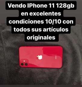 Vendo iPhone 11 rojo