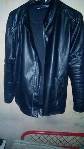 chaqueta de cuero sintético