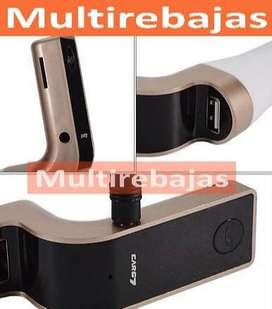 Llego lo Nuevo Transmisor Fm Bluetooth Mp3 Usb Cargador De Celular Tablet