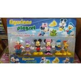 set de mickey 6 personajes juguetes