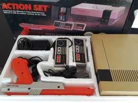 Nintendo original con caja Nes. Y un juego