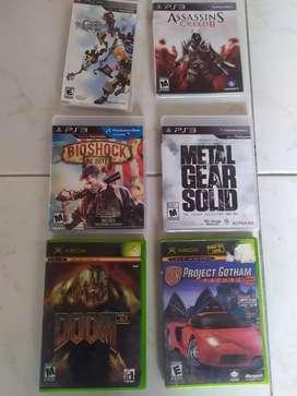 Juegos de Xbox, ps3 y psp. leer en la descripción el precio.