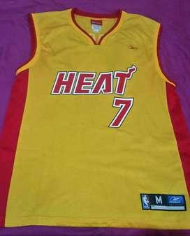 Jersey Miami Heat Amarillo Original Reebok Nba Talla M
