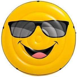 Flotador emoji amarillo Intex #57254 Colchoneta inflable 173 x 27 cm