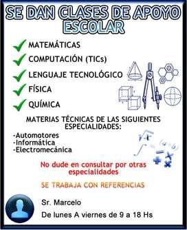 Clases Particulares Nivel Secundario Técnico