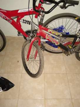 Vendo bicicleta niño rodado 20 impecable, poco uso.