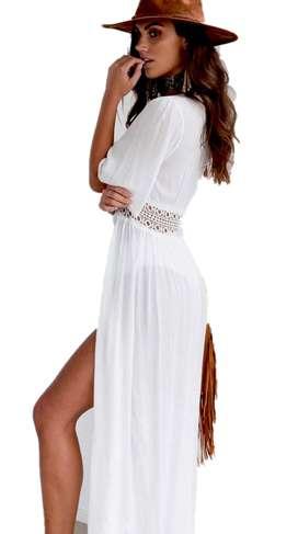 Salida De Baño Elegante Fashion Bordado Cuerpo Completo 310 311