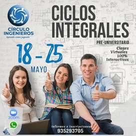 CICLOS PRE- UNIVERSITARIOS (UNCP- UNMSM)