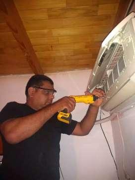 Carga de gas refrigerante aire acondicionado