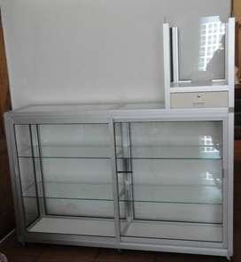 Vitrina de Aluminio con Caja para Exhibición