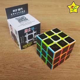 Cubo Rubik 3x3 Qiyi Stickerless Cobra Velocidad Carbono