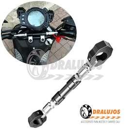 1 Barra Estabilizadora Aluminio Para Manubrio Retractil Moto Universal SKU: BARR02