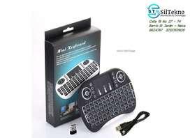 Mini teclado inalámbrico retroiluminado