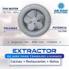 EXTRACTOR  DE AIRE 8 PULGADAS