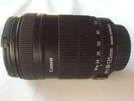 vendo lente canon 18-135  como nuevo