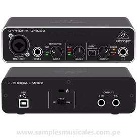 interfaz de audio beringher umc22