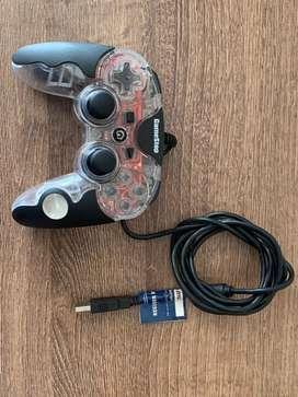 Control alambrico transparente playstation