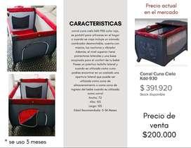 Cuna Corral Cielo KDD 930 Rojo