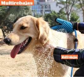 Manguera Con Cepillo Masajeador Para Bañar Mascotas