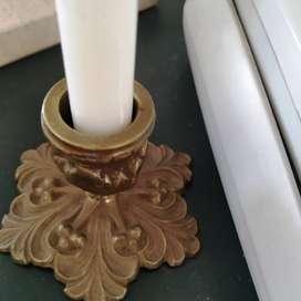 Candelero de bronce macizo