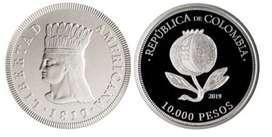 Moneda 10.000 Pesos Colombia - Conmemorativa 50.000 pesos $50.000a Bicentenario