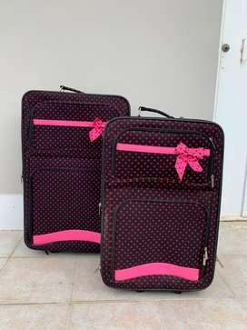 Juego de dos maletas de viaje