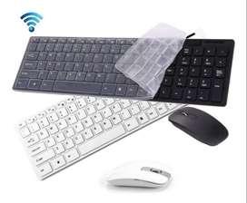 Teclado & Mouse Diseño Ultradelgado Bluetooth2.4g +protector