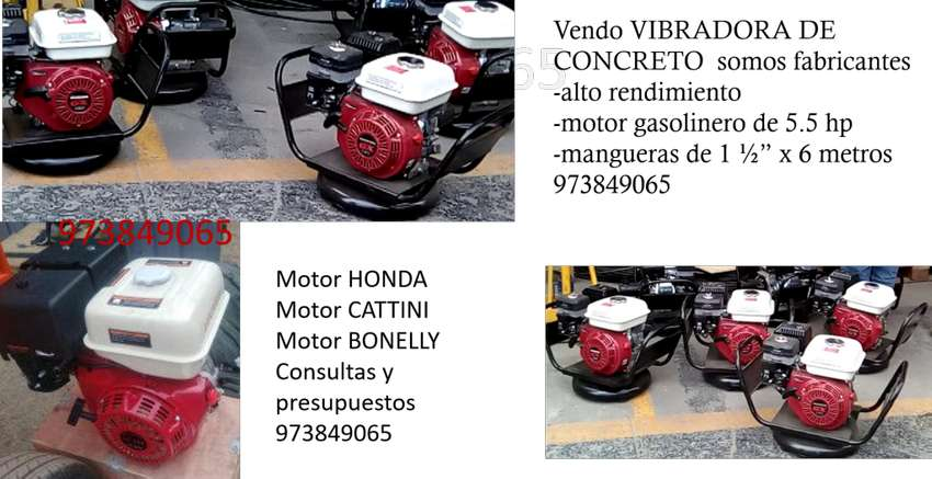 fabricamos y vendemos VIBRADORAS DE CONCRETO CON HONDA, MANGUERAS, cortadoras con disco motor honda buen precio 0
