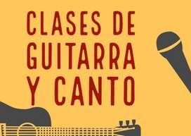 Clases de Guitarra Y Canto online