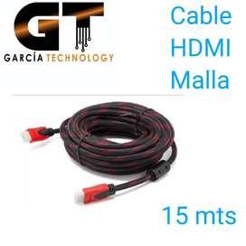Cable Hdmi 15 Metros Doble Filtro Malla