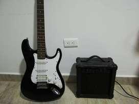 Guitarra eléctrica con amplificador Vorson v-155