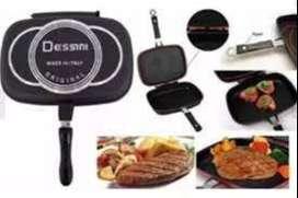 Sartén Cuadrada Dual Grill Doble Parrilla 36 Cmts