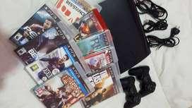 Vendo urgente PlayStation 3+2Joystick +9 juegos  fisicos