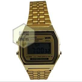 Reloj TIPO Casio A159w Dorado Negro Digital Unisex Domicilio Bogotá