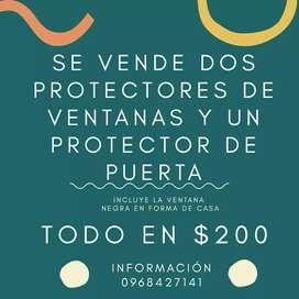 VENTA DE PROTECTORES DE VENTANA Y PUERTA USADOS