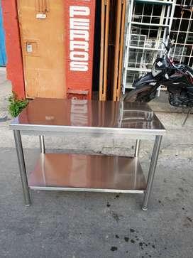 Mesa en acero inoxidable industriales nueva