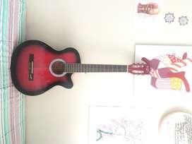 Guitarra Acústica Memphis Roja