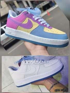 Tenis Nike Air Force One UV dama y caballero