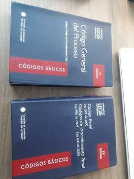 Vendo el Código General del proceso (7 edición) y Código penal (22 edición)de LEGIS