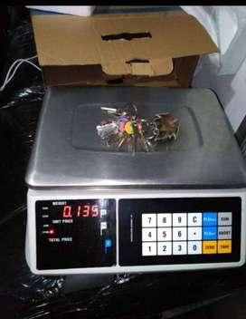 Pesa digital con conexión a computador para cualquier sistema pos, para tienda, supermercado, fruver, placita y demás.