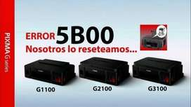 RESET de impresora Canon G2100 G3100 G4100 error 5B00