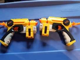 yh pistolas nerf gemelas usadas cambio remato