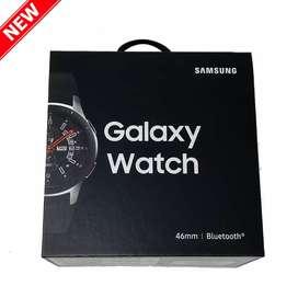 Samsung Galaxy watch (46mm, silver, Bluetooth, sellado)