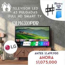 """Televisor led de 43"""" full hd, Smart tv marca LG garantía de 1 año, completamente nuevo, pago contra entrega en Bogotá"""