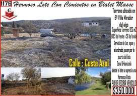 Vendo Lote Lomas del Mirador a 300 Mtrs Del Arroyo