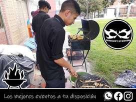 Alquiler de parrillas a carbón, servicio de parrilleros a domicilio en Bogotá, organización de eventos y parrilladas